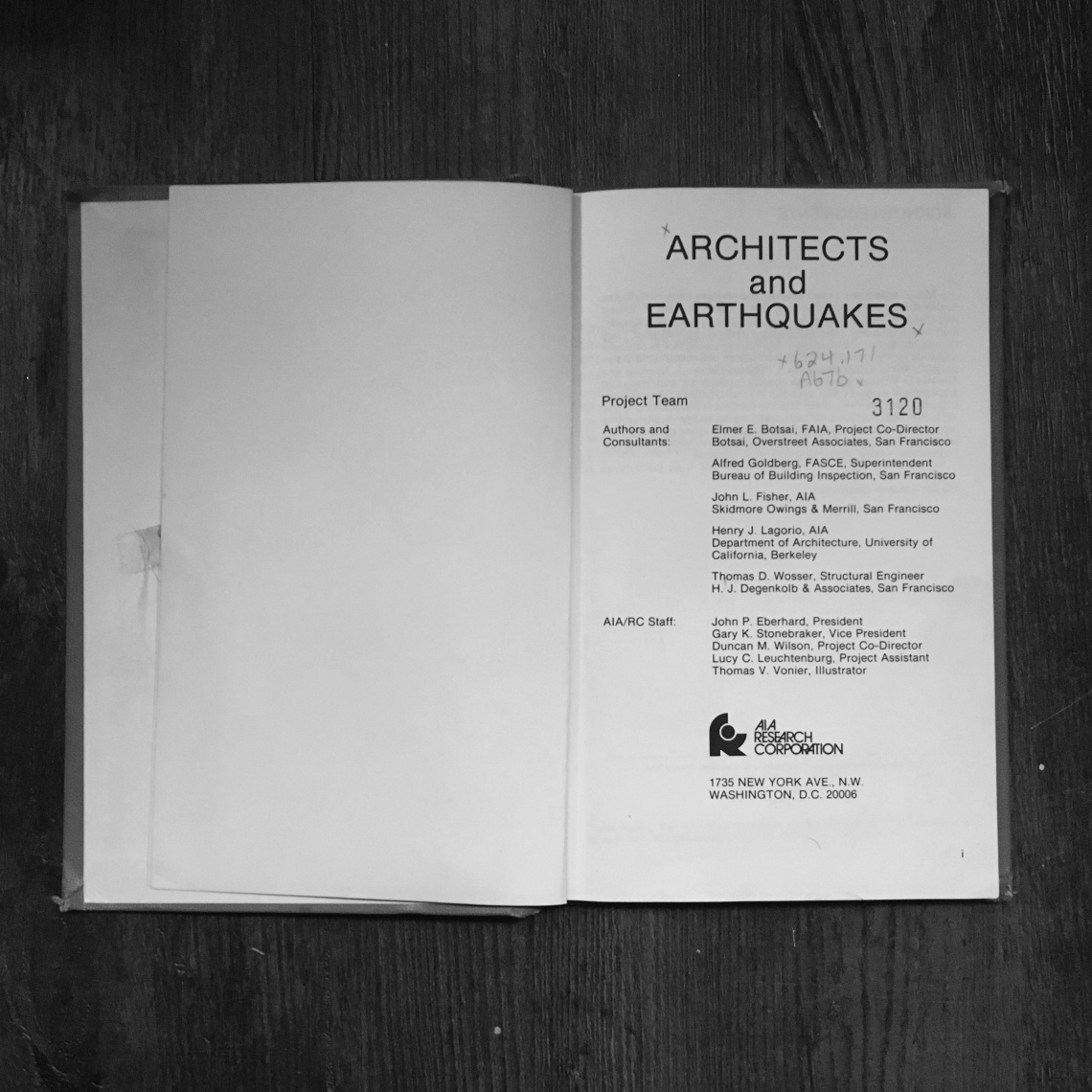 Architects and Earthquakes [cover]